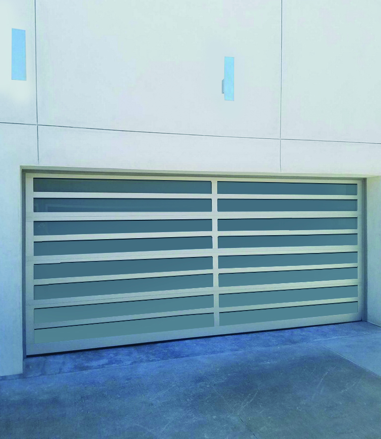 Model EL125 Contemporary Aluminum Garage Doors