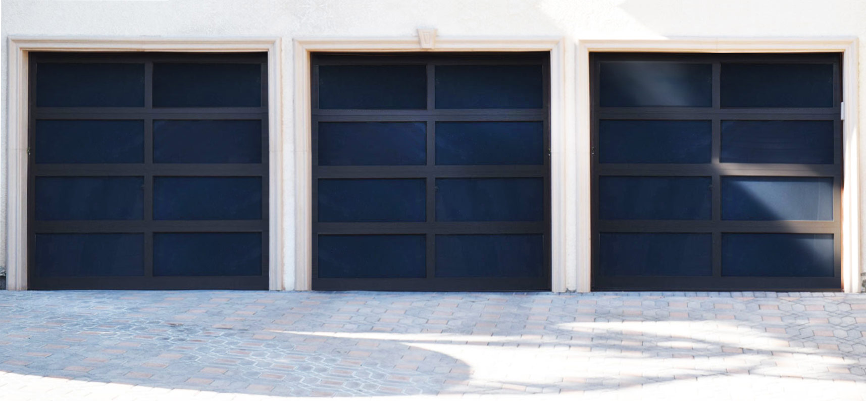 Model EL100 Full View Aluminum Garage Doors